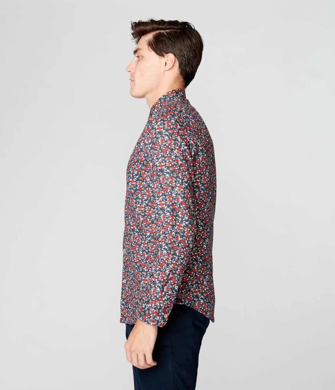 On-Point Print Shirt - Navy Luxembourg Floral - Good Man Brand - On-Point Print Shirt - Navy Luxembourg Floral