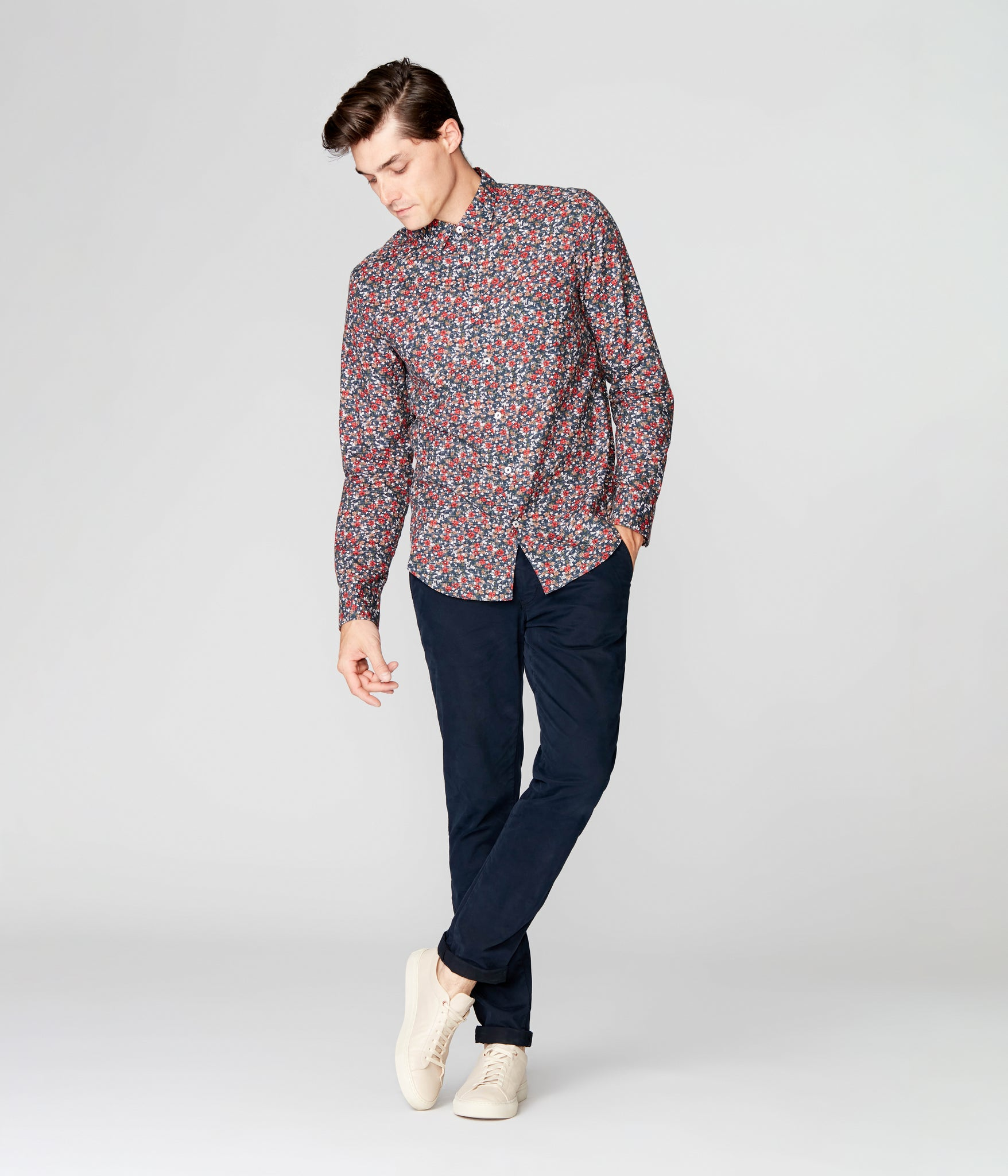 On-Point Print Shirt - Navy Luxembourg Floral