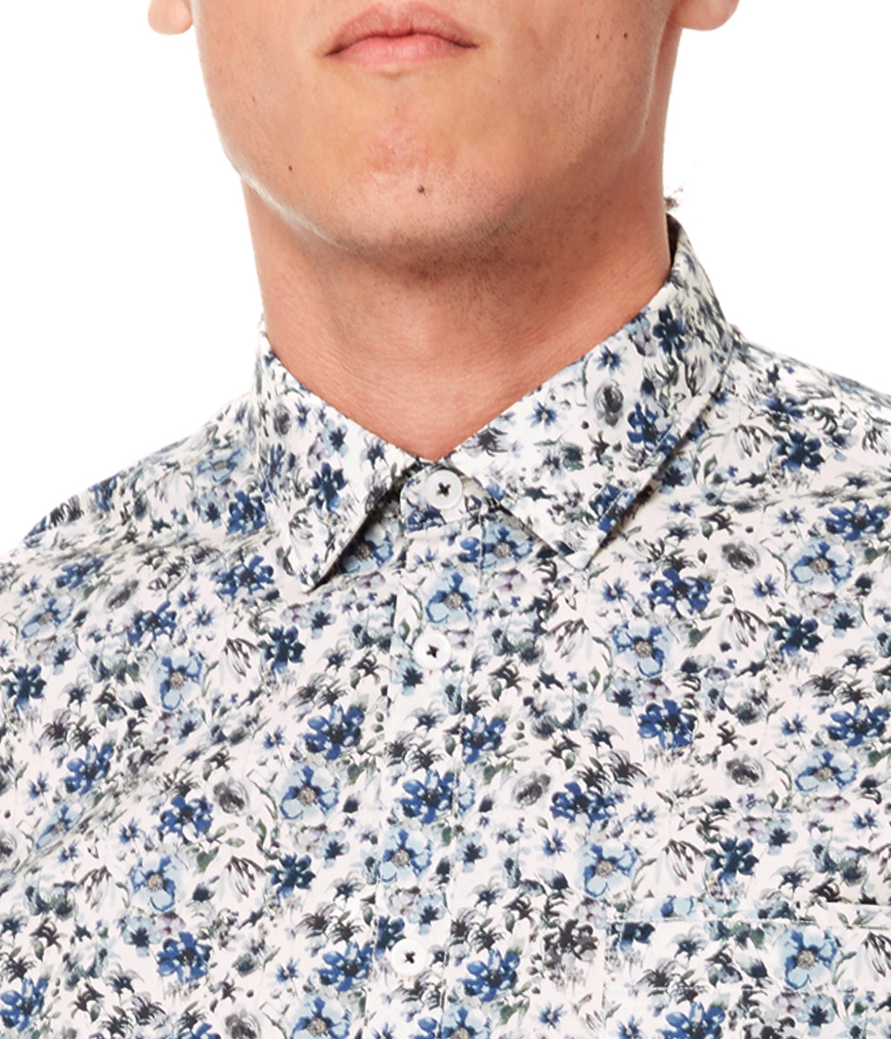 Off White Spider Floral On-Point Print Shirt