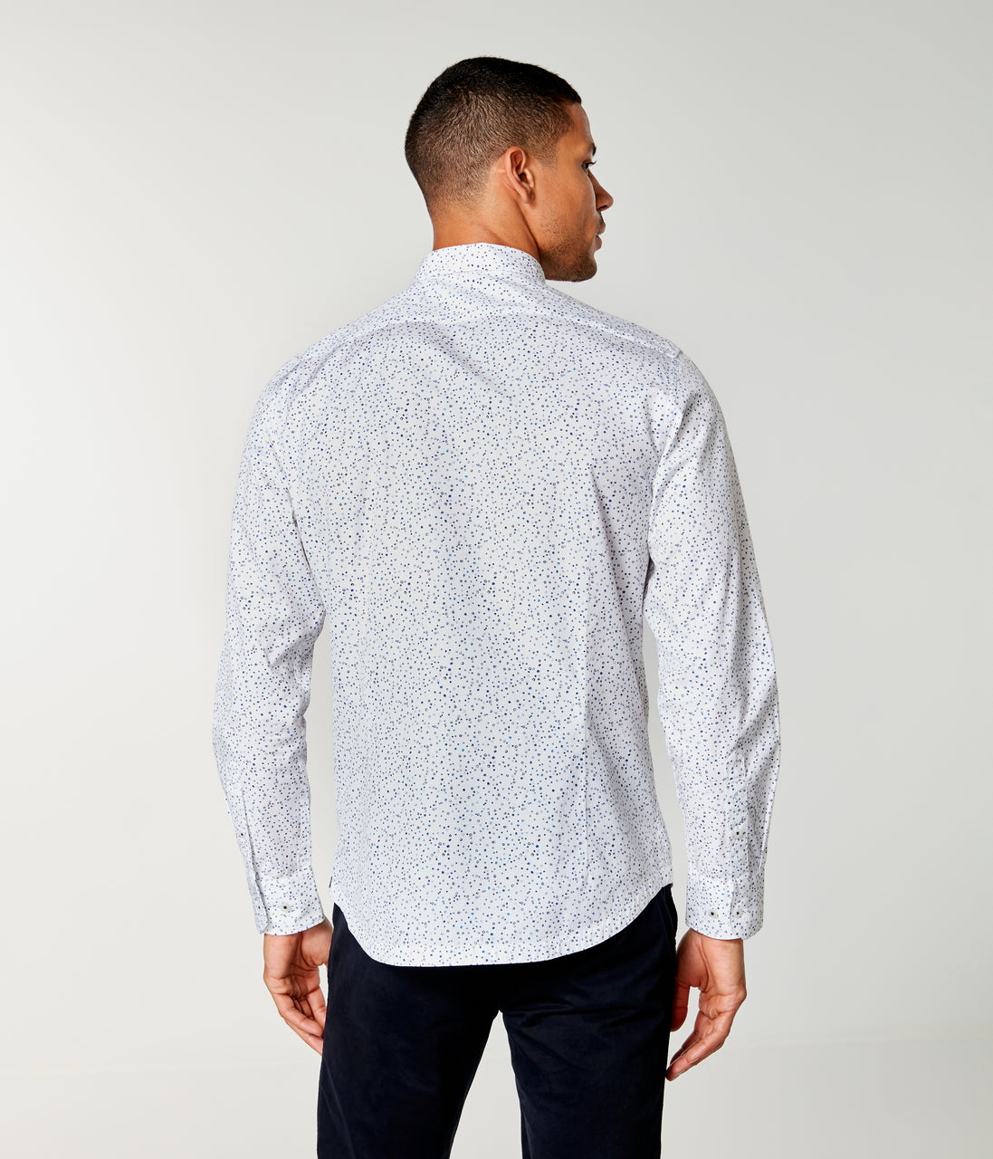 On-Point Print Shirt - White Micro Dot - Good Man Brand - On-Point Print Shirt - White Micro Dot