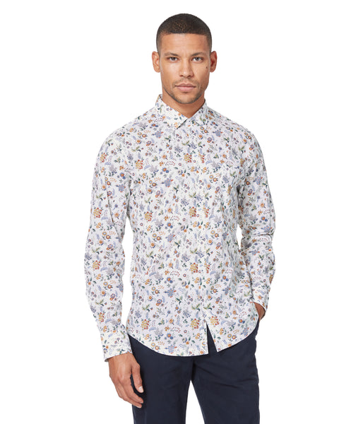 Blue Ceremony Floral On-Point Print Shirt - Good Man Brand -