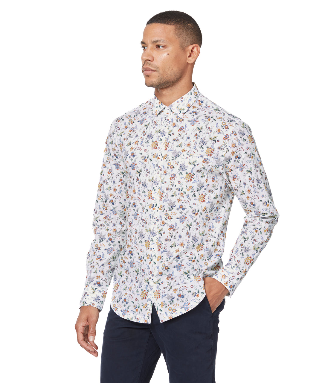 Yellow Floral Street On-Point Print Shirt - Good Man Brand - Yellow Floral Street On-Point Print Shirt