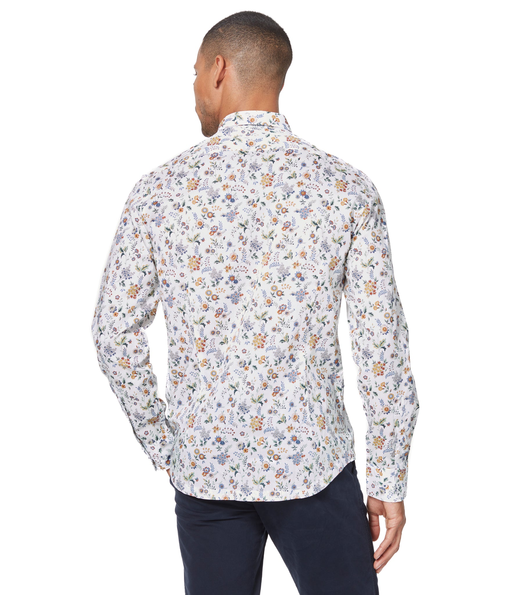 Yellow Floral Street On-Point Print Shirt