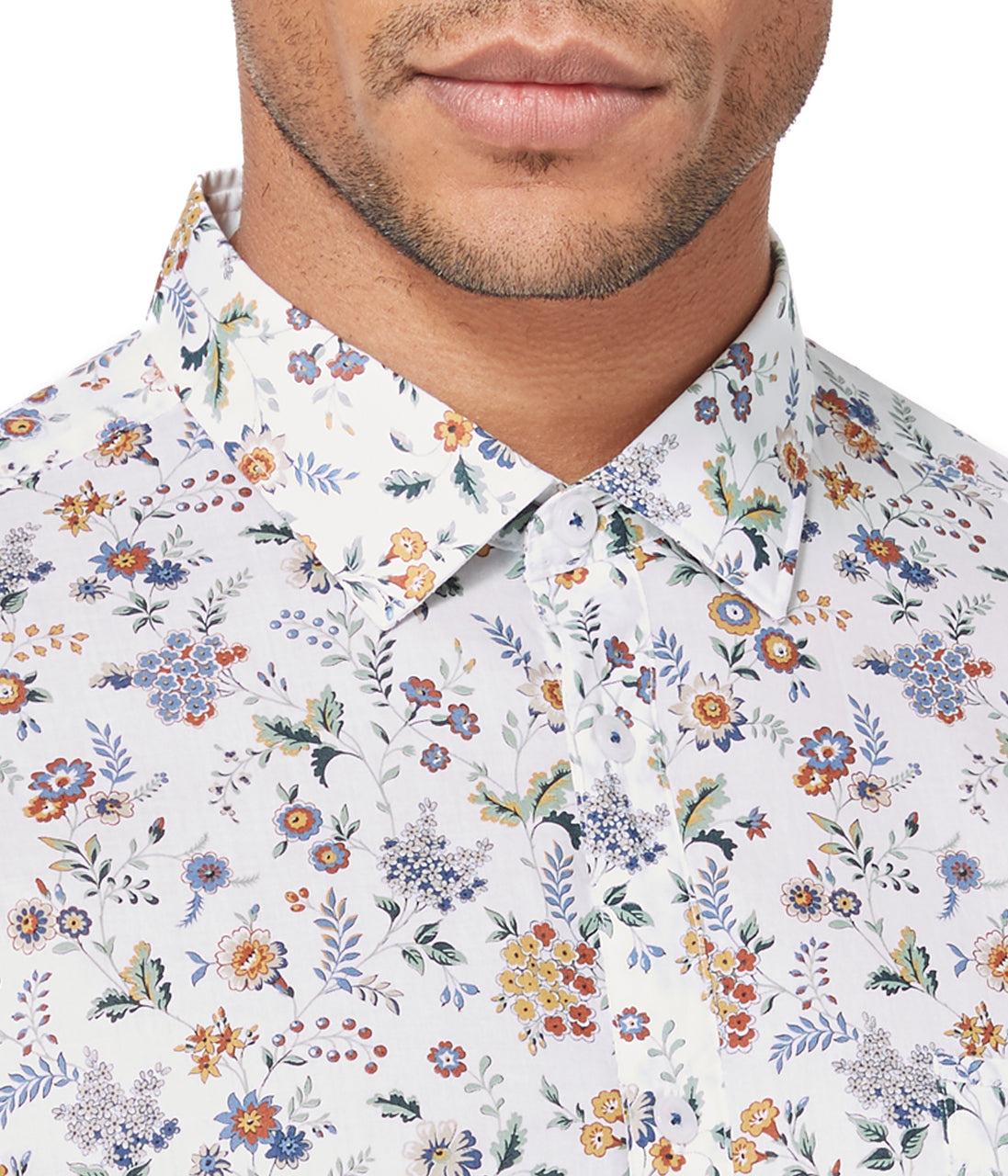 On-Point Print Shirt - Yellow Floral Street - Good Man Brand - On-Point Print Shirt - Yellow Floral Street