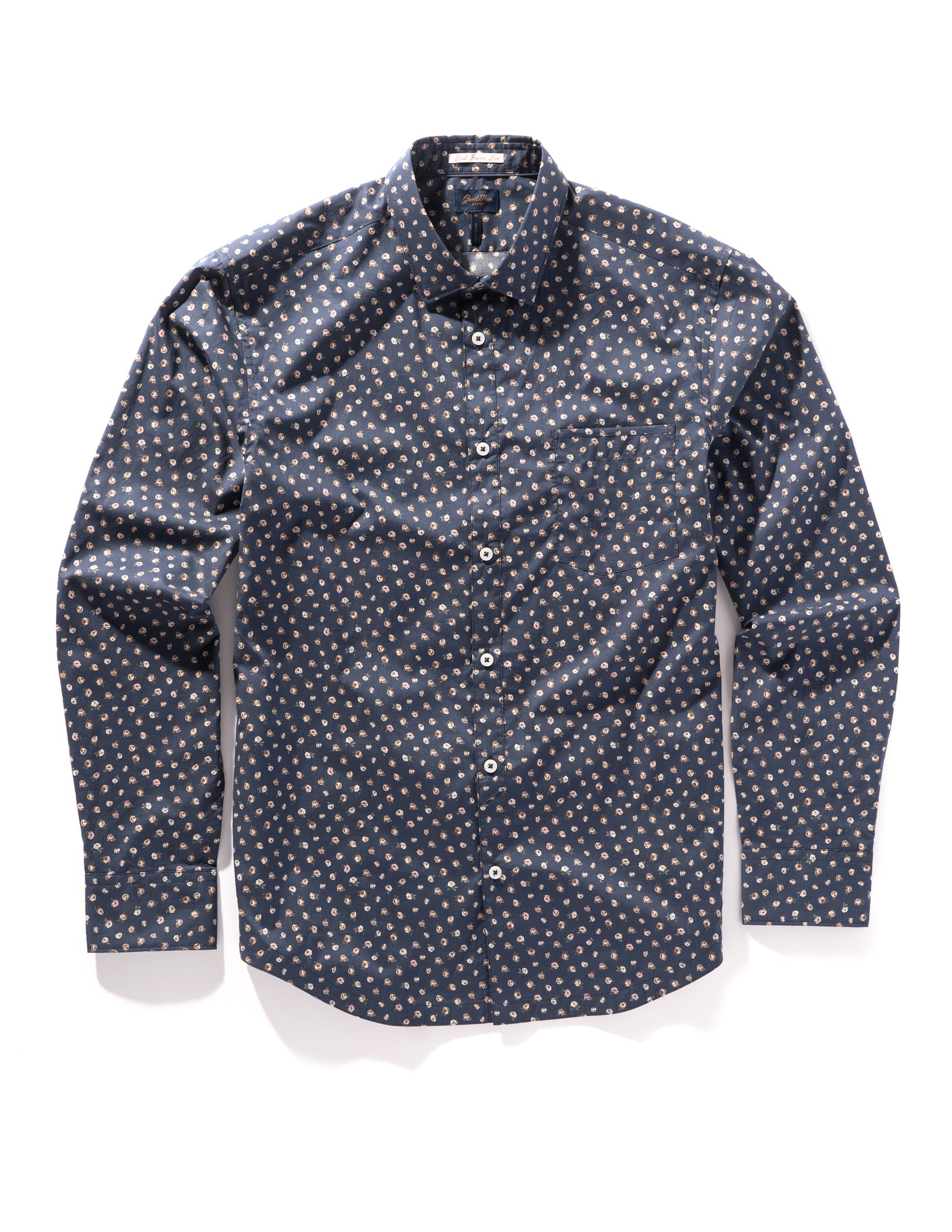 Navy Garden Rose On-Point Print Shirt