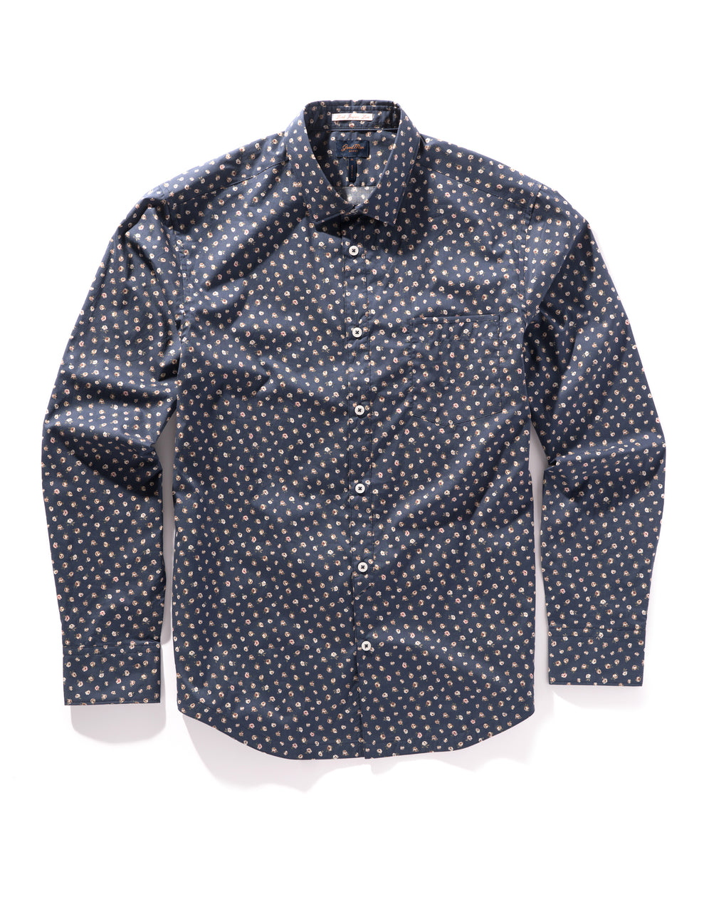 Navy Garden Rose On-Point Print Shirt - Good Man Brand - Navy Garden Rose On-Point Print Shirt