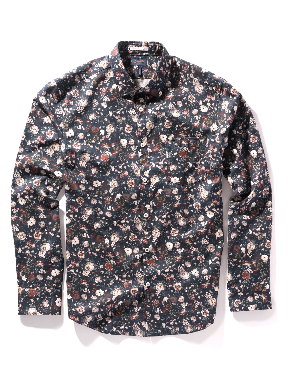 Navy Royal Floral On-Point Print Shirt - Good Man Brand - Navy Royal Floral On-Point Print Shirt