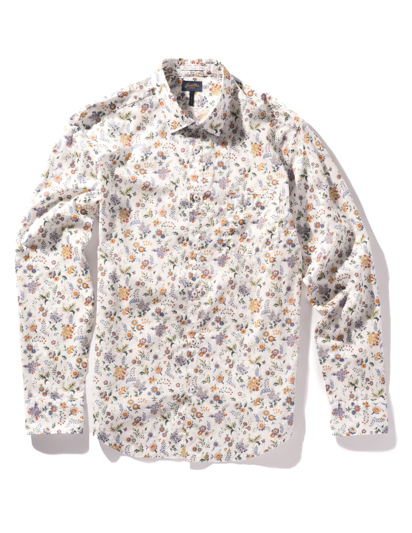 On-Point Print Shirt - Yellow Floral Street