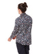 Navy Royal Floral On-Point Print Shirt
