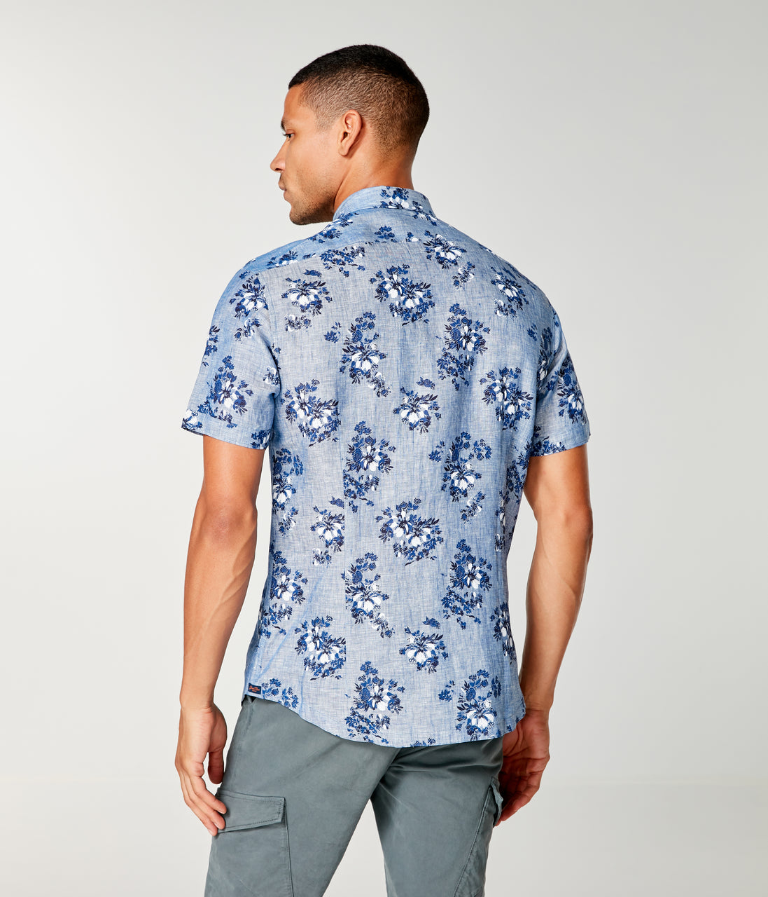 Linen On-Point Shirt - Indigo Tulum Floral - Good Man Brand - Linen On-Point Shirt - Indigo Tulum Floral
