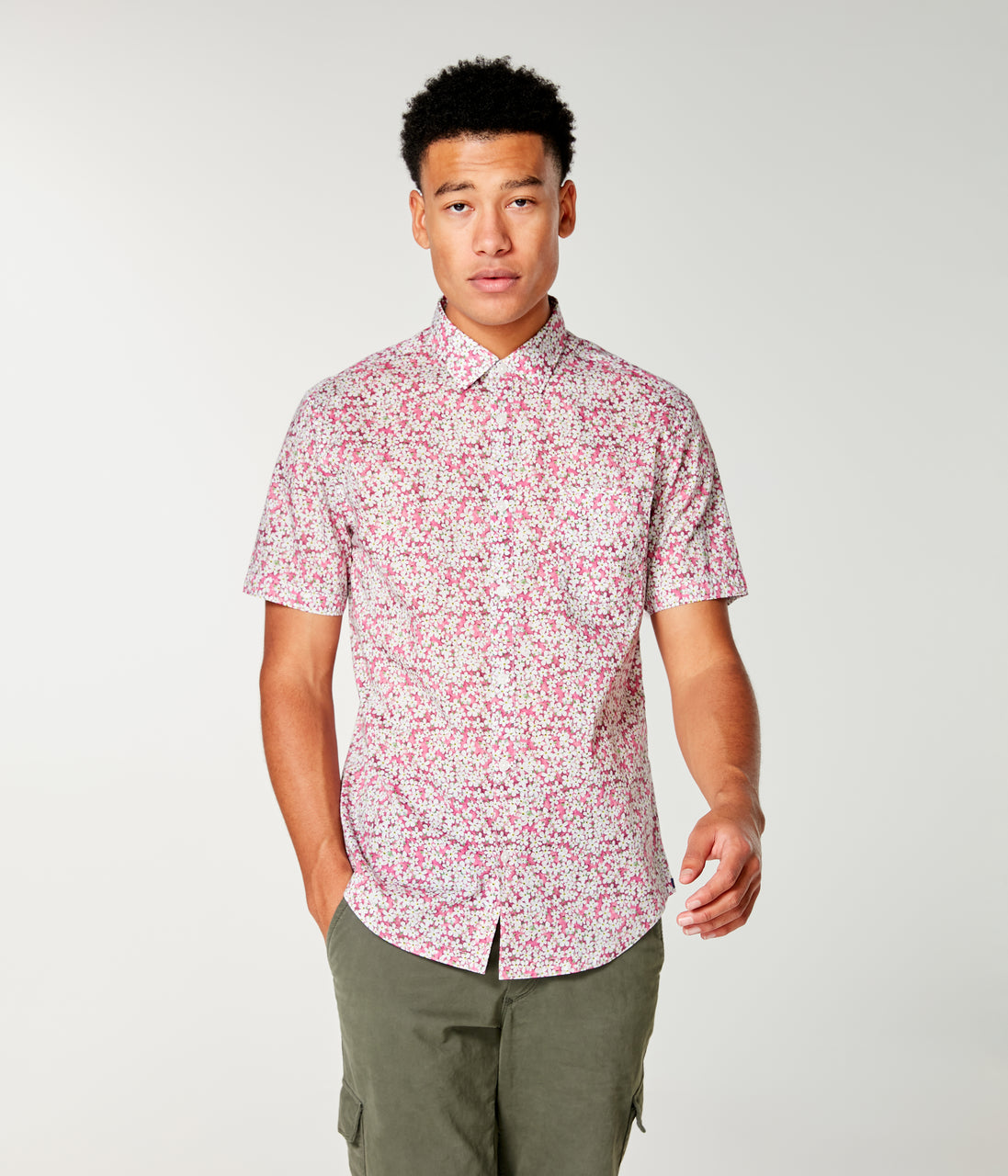 Woven On-Point Shirt - Jazzy Petal Liberty Pond - Good Man Brand - Woven On-Point Shirt - Jazzy Petal Liberty Pond