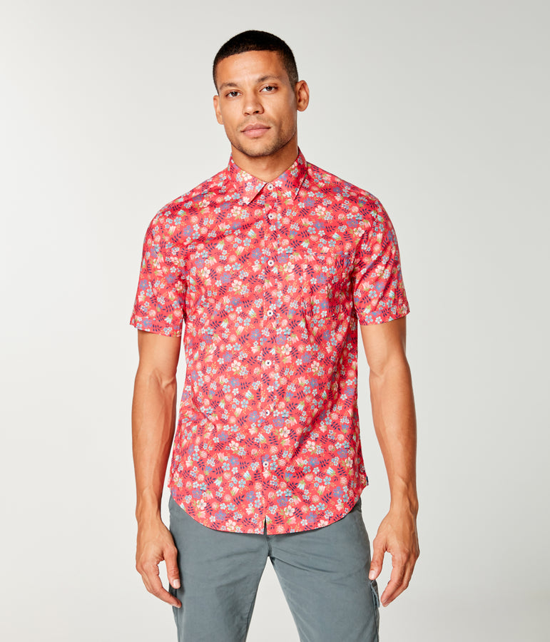 Woven On-Point Shirt - Jazzy Petal Liberty Pond - Good Man Brand
