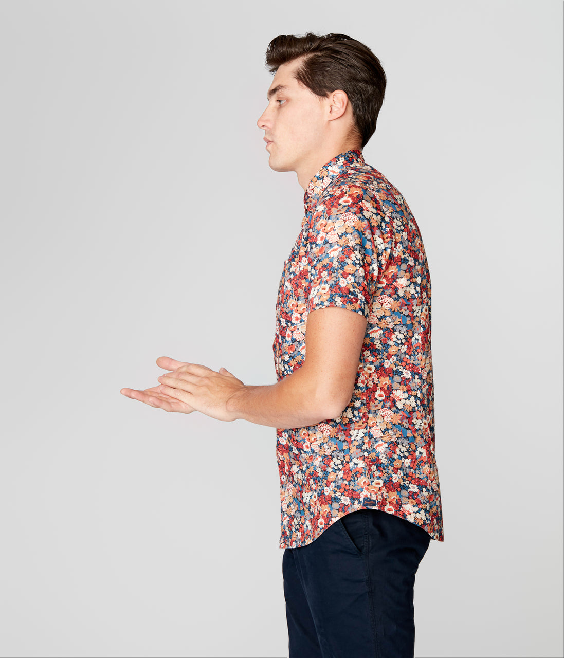 Woven On-Point Shirt - Navy Harvest English Floral - Good Man Brand - Woven On-Point Shirt - Navy Harvest English Floral