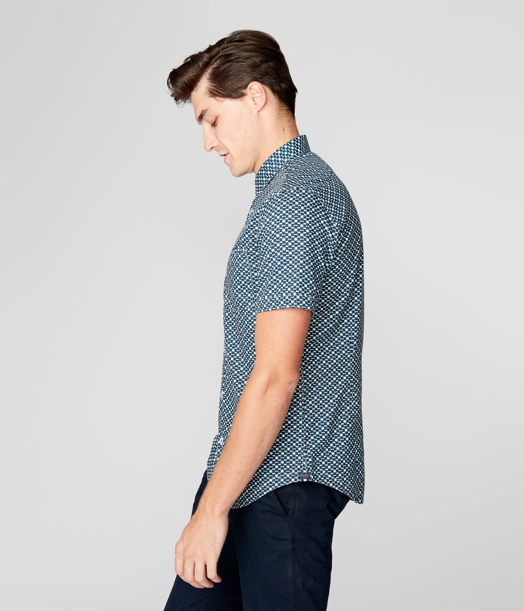 Woven On-Point Shirt - Sky Captain Seine Geo