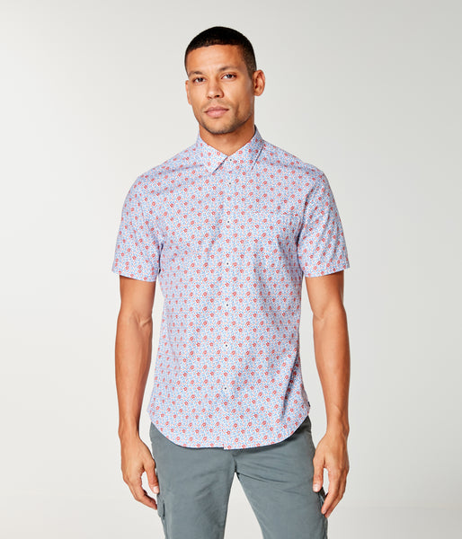 On-Point Print Shirt Short Sleeve - Jazzy Monarch Floral - Good Man Brand -