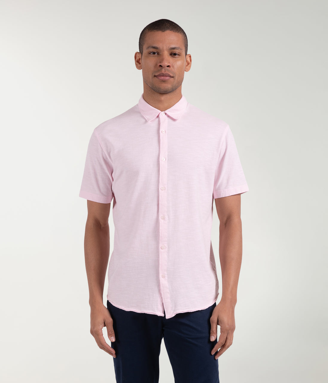 Soft Slub Jersey On-Point Shirt - Cherry Blossom - Good Man Brand - Soft Slub Jersey On-Point Shirt - Cherry Blossom