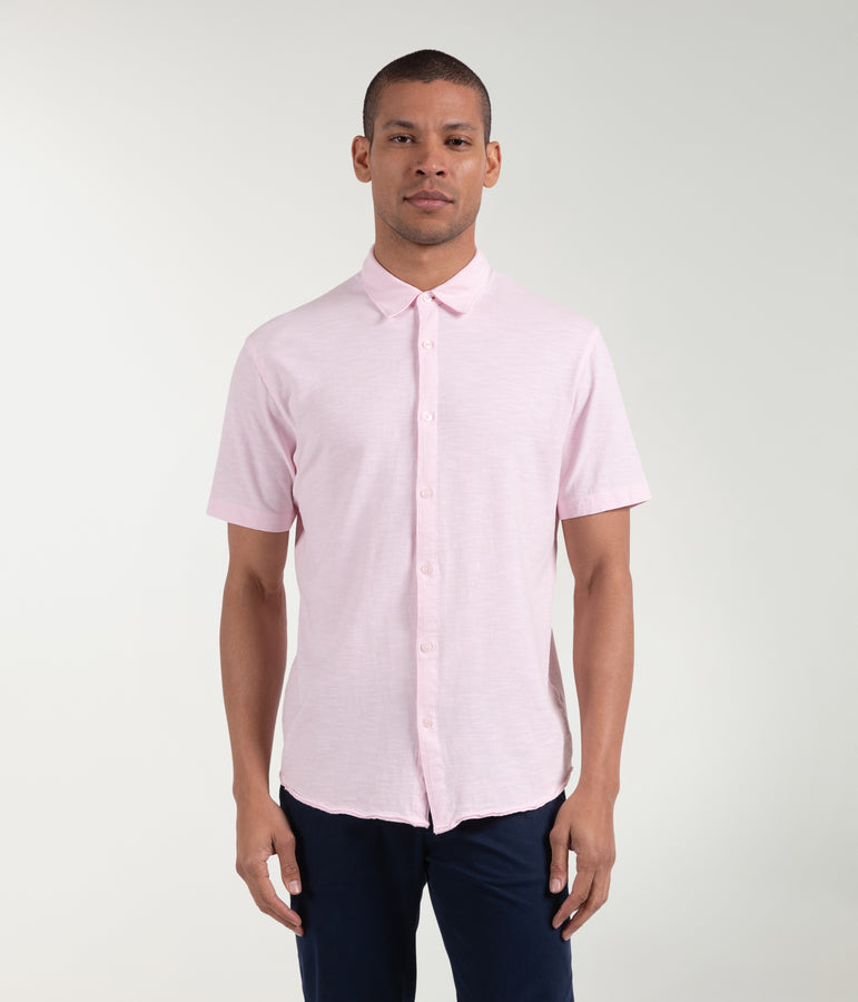 Soft Slub Jersey On-Point Shirt - Cherry Blossom - Good Man Brand