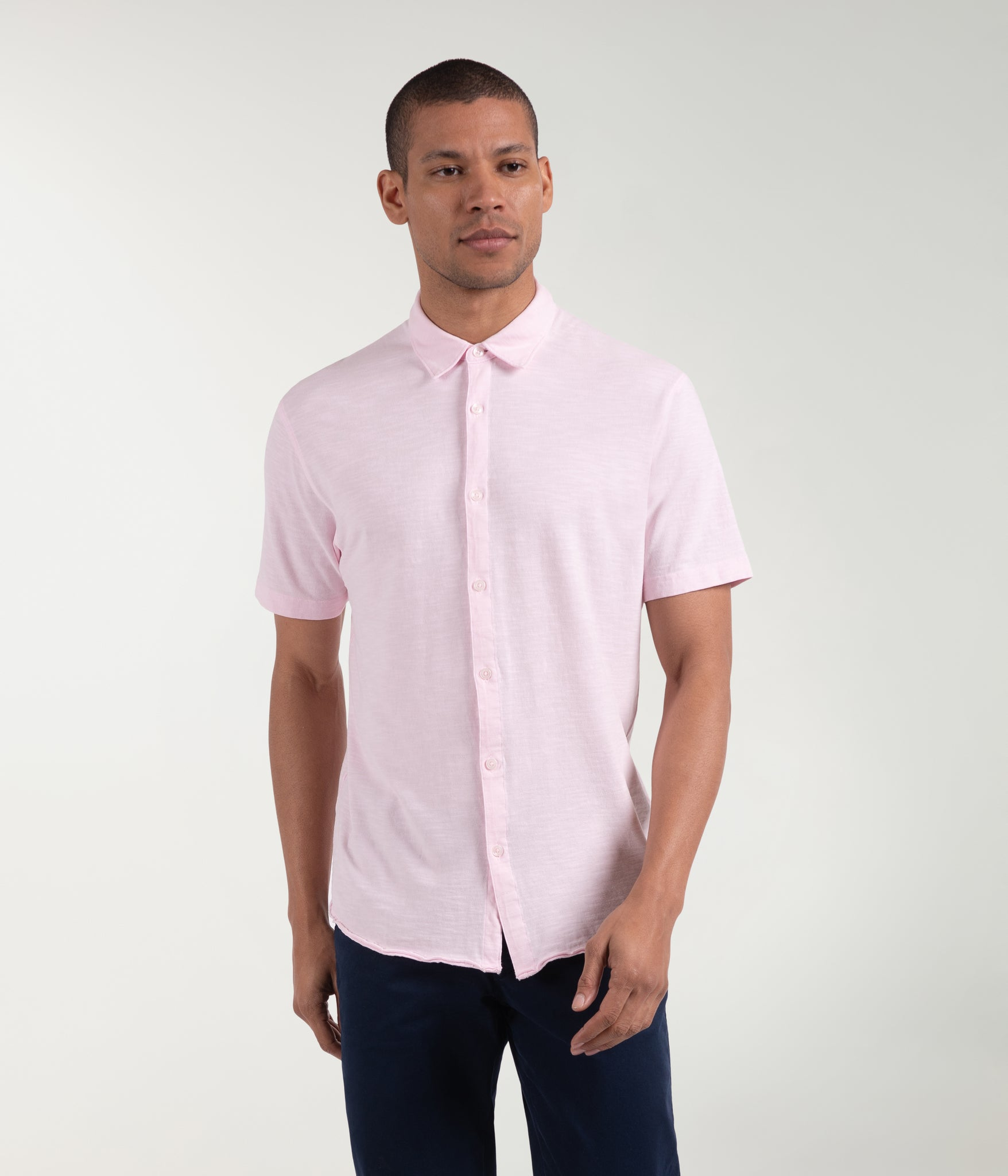 Soft Slub Jersey On-Point Shirt - Cherry Blossom