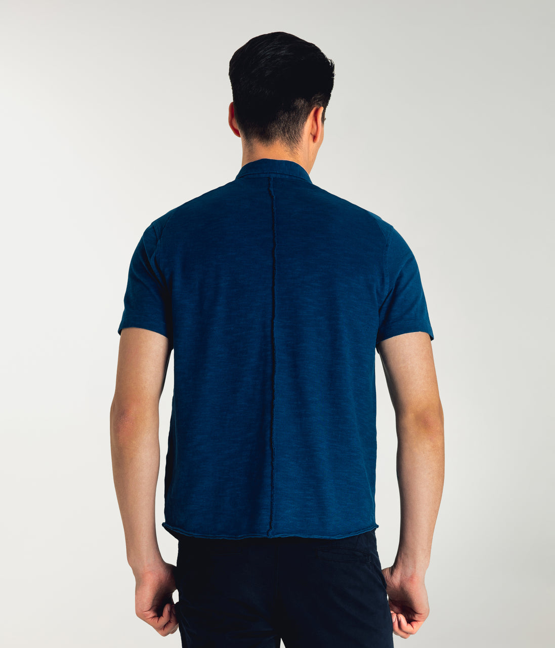 Soft Slub Jersey On-Point Shirt - Sea - Good Man Brand - Soft Slub Jersey On-Point Shirt - Sea