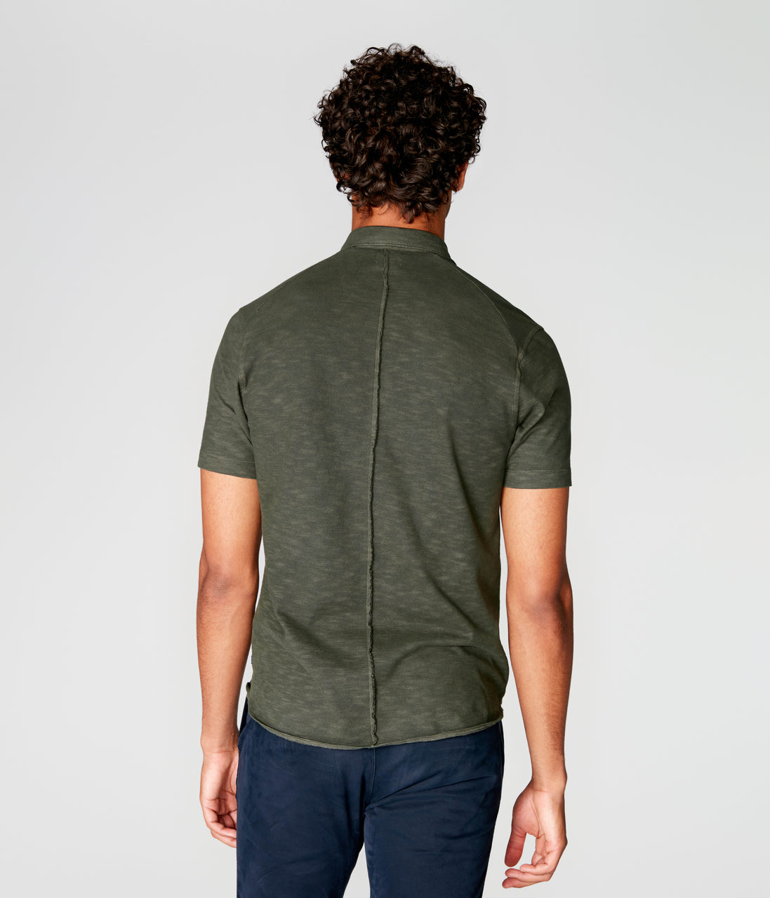 On-Point Soft Shirt in Soft Slub Jersey - Rifle Green Dark - Good Man Brand - On-Point Soft Shirt in Soft Slub Jersey - Rifle Green Dark