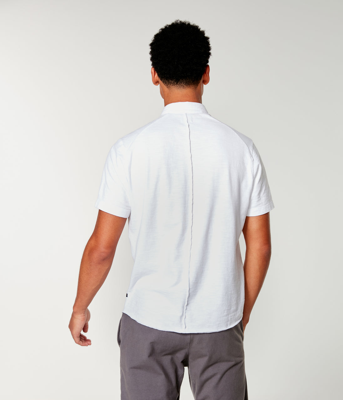 Soft Slub Jersey On-Point Shirt - White - Good Man Brand - Soft Slub Jersey On-Point Shirt - White