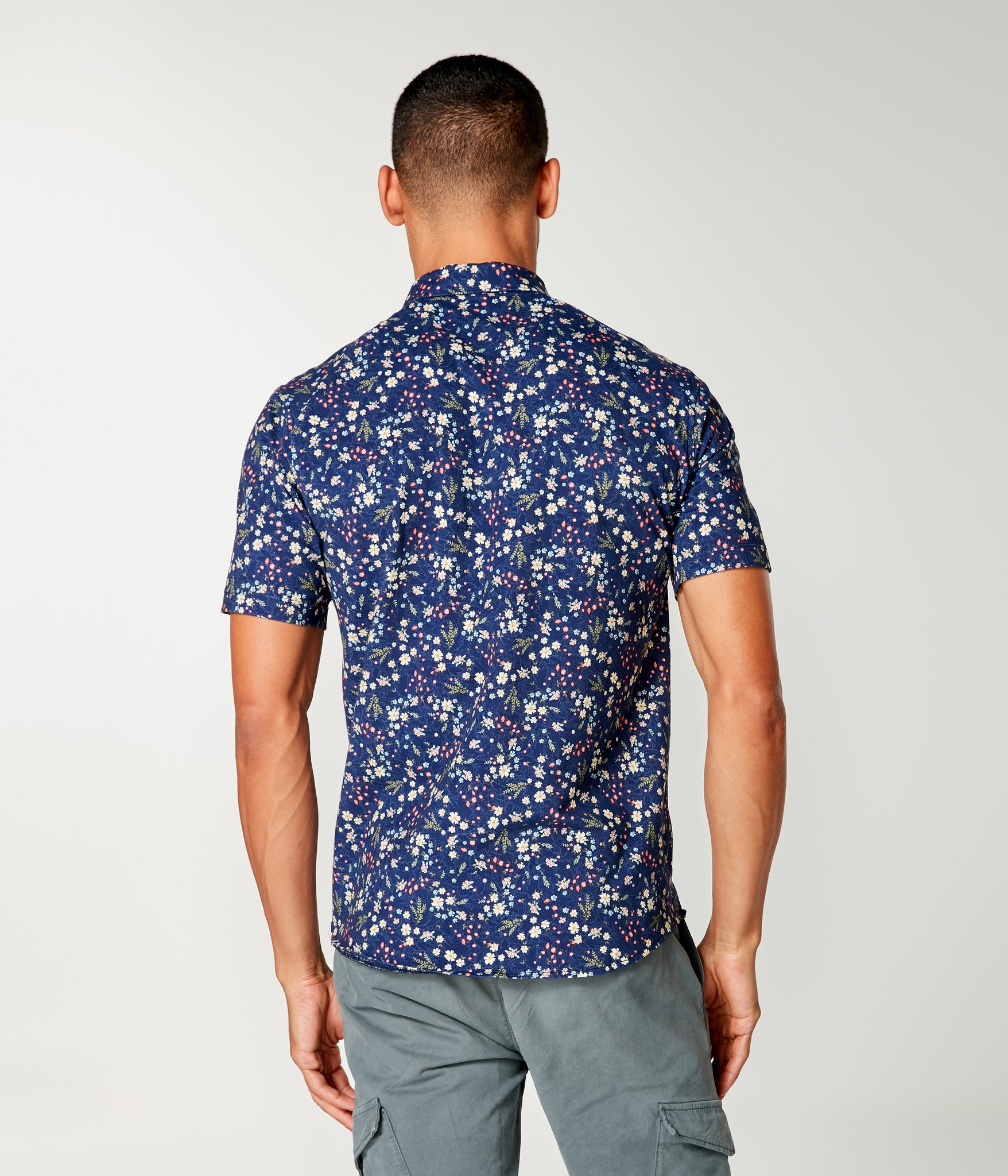 Flex Pro Jersey Printed Soft Shirt - Blue Hanabira Blooms