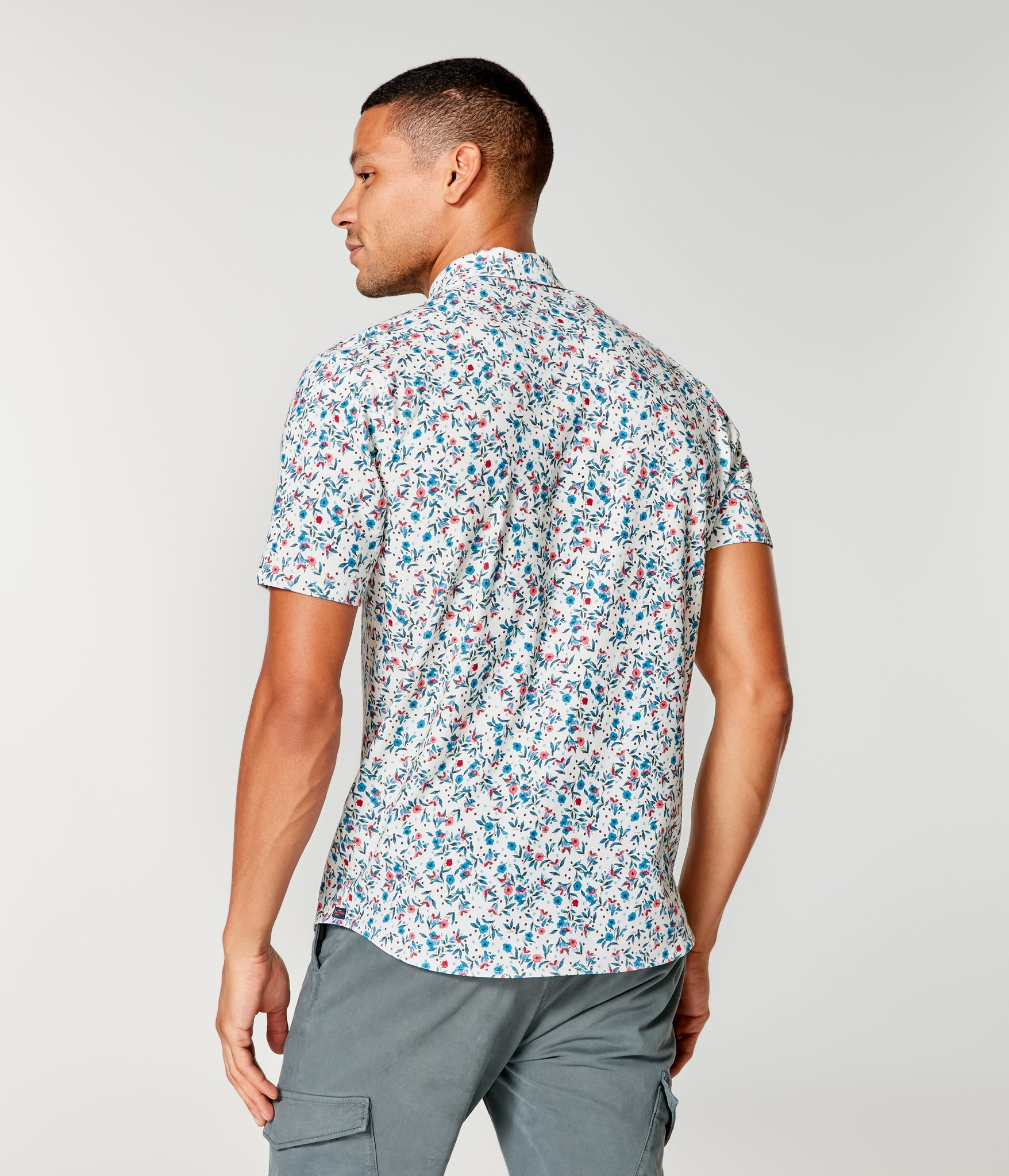 Flex Pro Jersey Printed Soft Shirt - White Berry Harvest