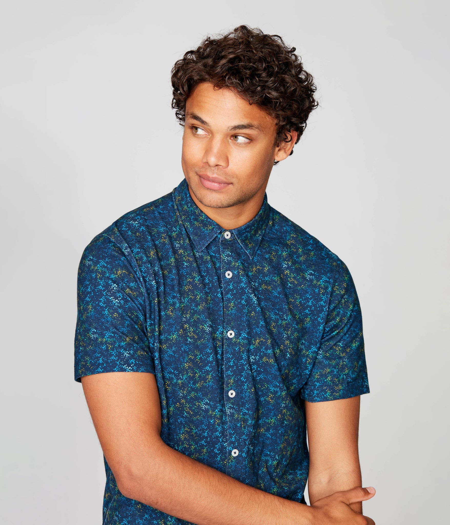 On-Point Soft Shirt in Soft Slub - Blue Pacific Stone Garden
