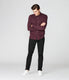 On-Point Soft Shirt in Black Marl Soft Slub - Wine