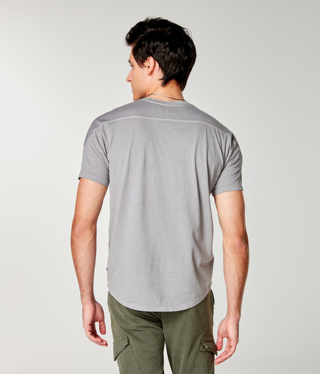 Premium Cotton Jersey Hi Vee Tee - Frost Grey - Good Man Brand - Premium Cotton Jersey Hi Vee Tee - Frost Grey