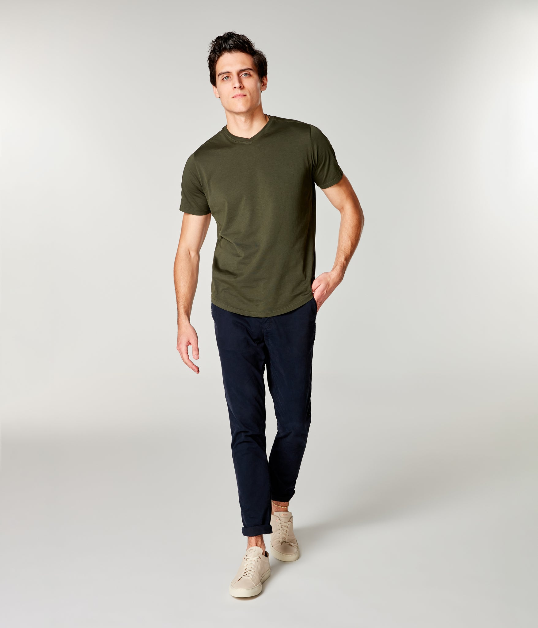 Premium Cotton Jersey Hi Vee Tee - Rifle Green