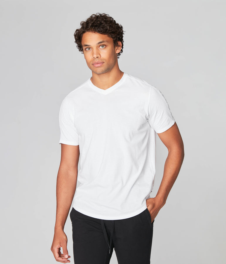 Hi Vee Tee in Premium Jersey - White - Good Man Brand
