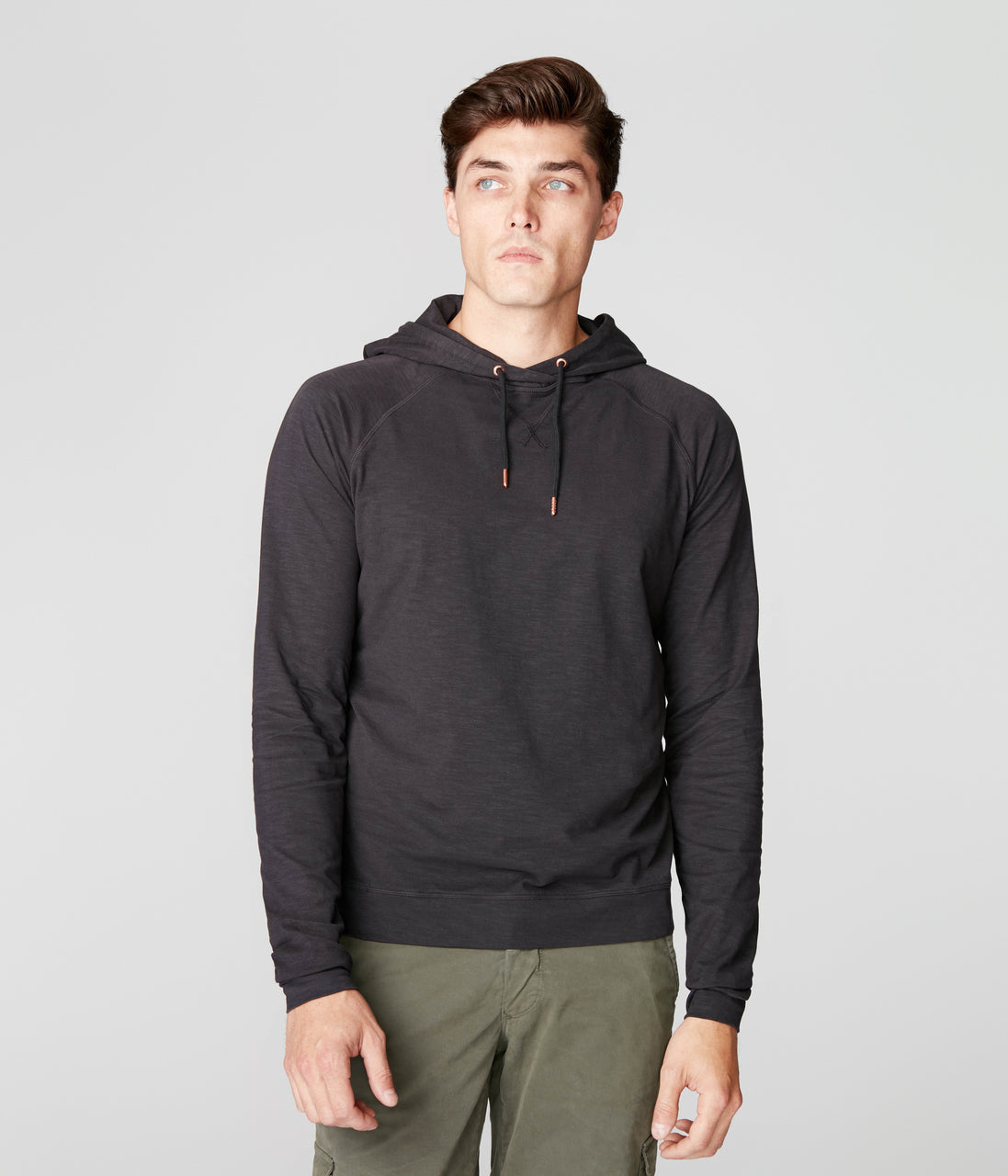 Legend Hoodie in Soft Slub Jersey - Black - Good Man Brand - Legend Hoodie in Soft Slub Jersey - Black