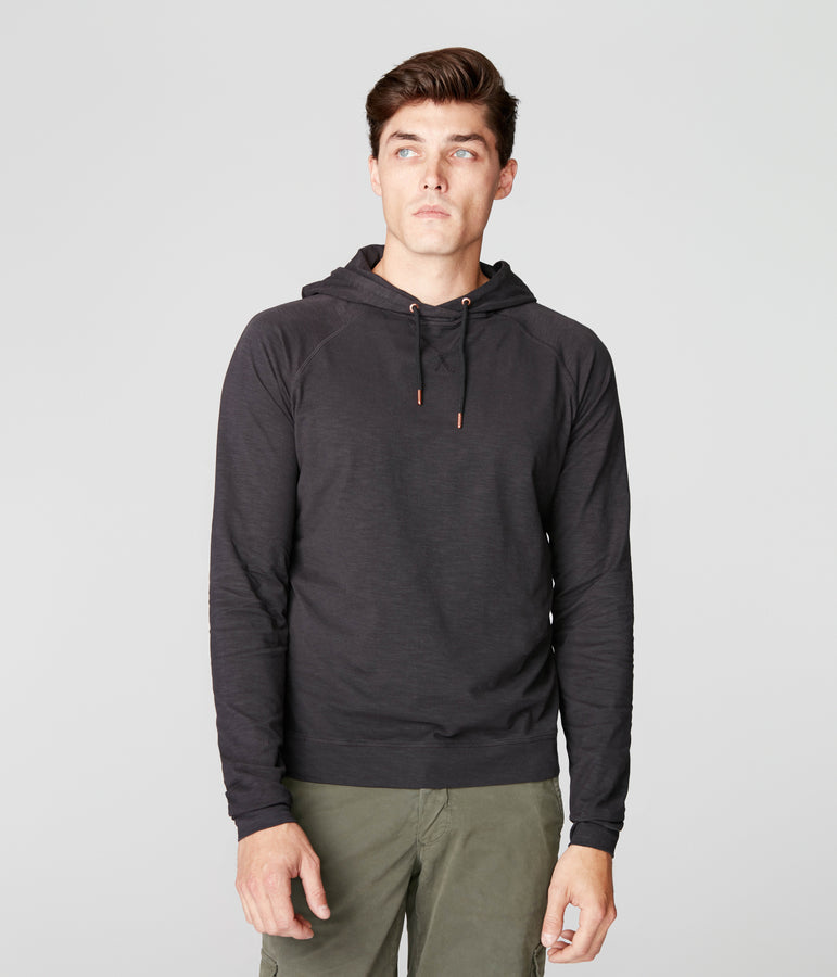 Legend Hoodie in Soft Slub Jersey - Black - Good Man Brand