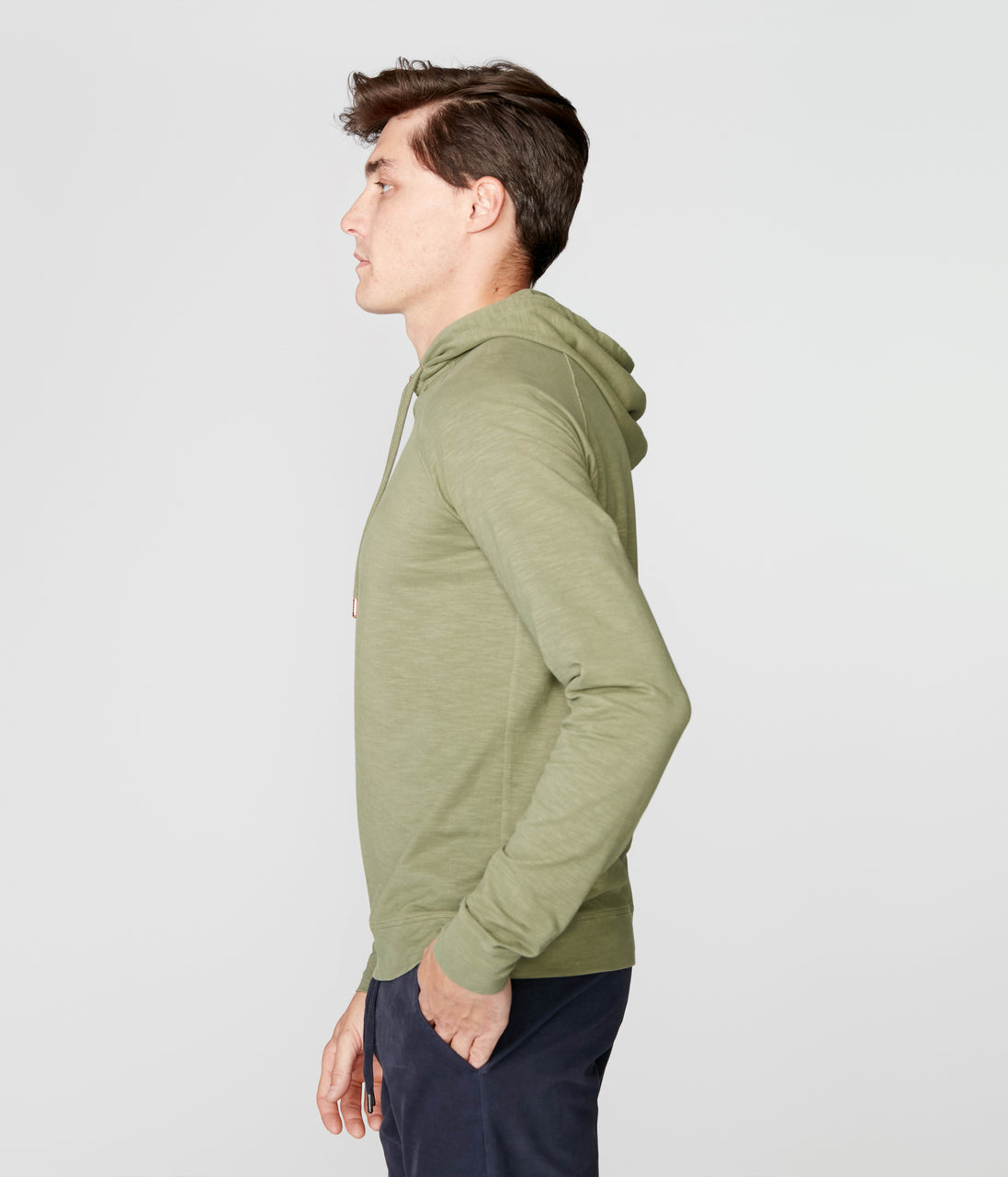 Legend Hoodie in Soft Slub Jersey - Clover - Good Man Brand - Legend Hoodie in Soft Slub Jersey - Clover