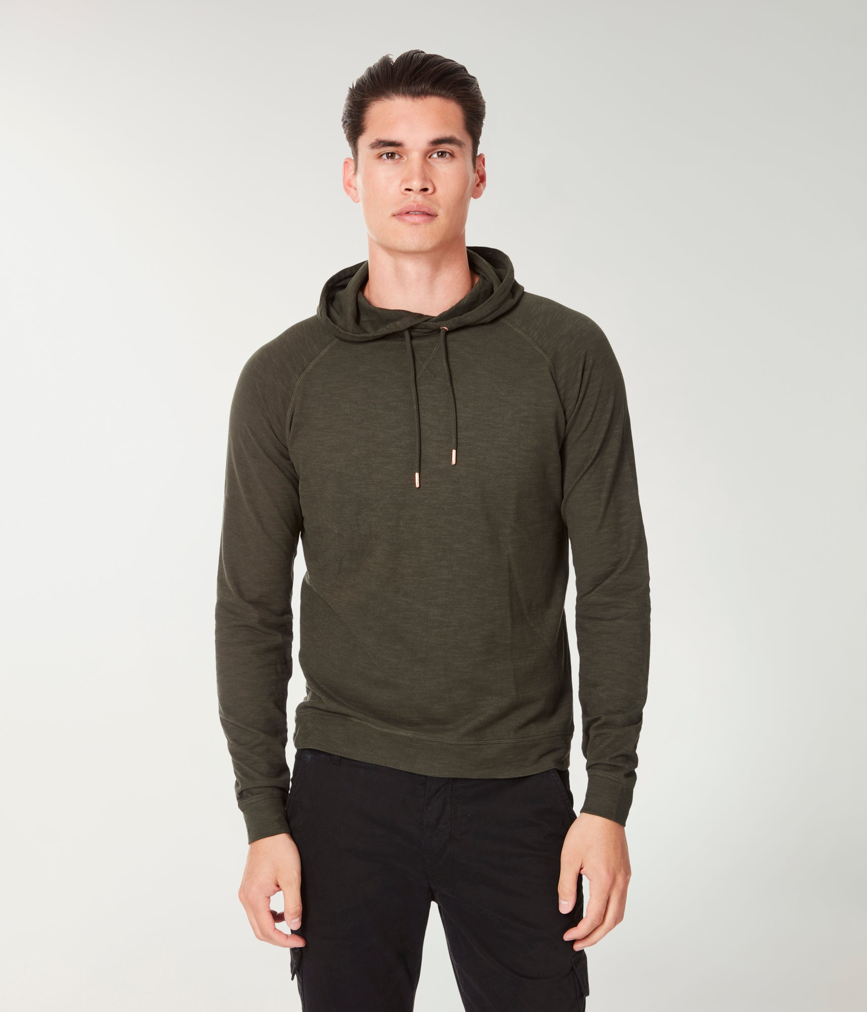 Soft Slub Jersey Legend Hoodie - Rifle Green