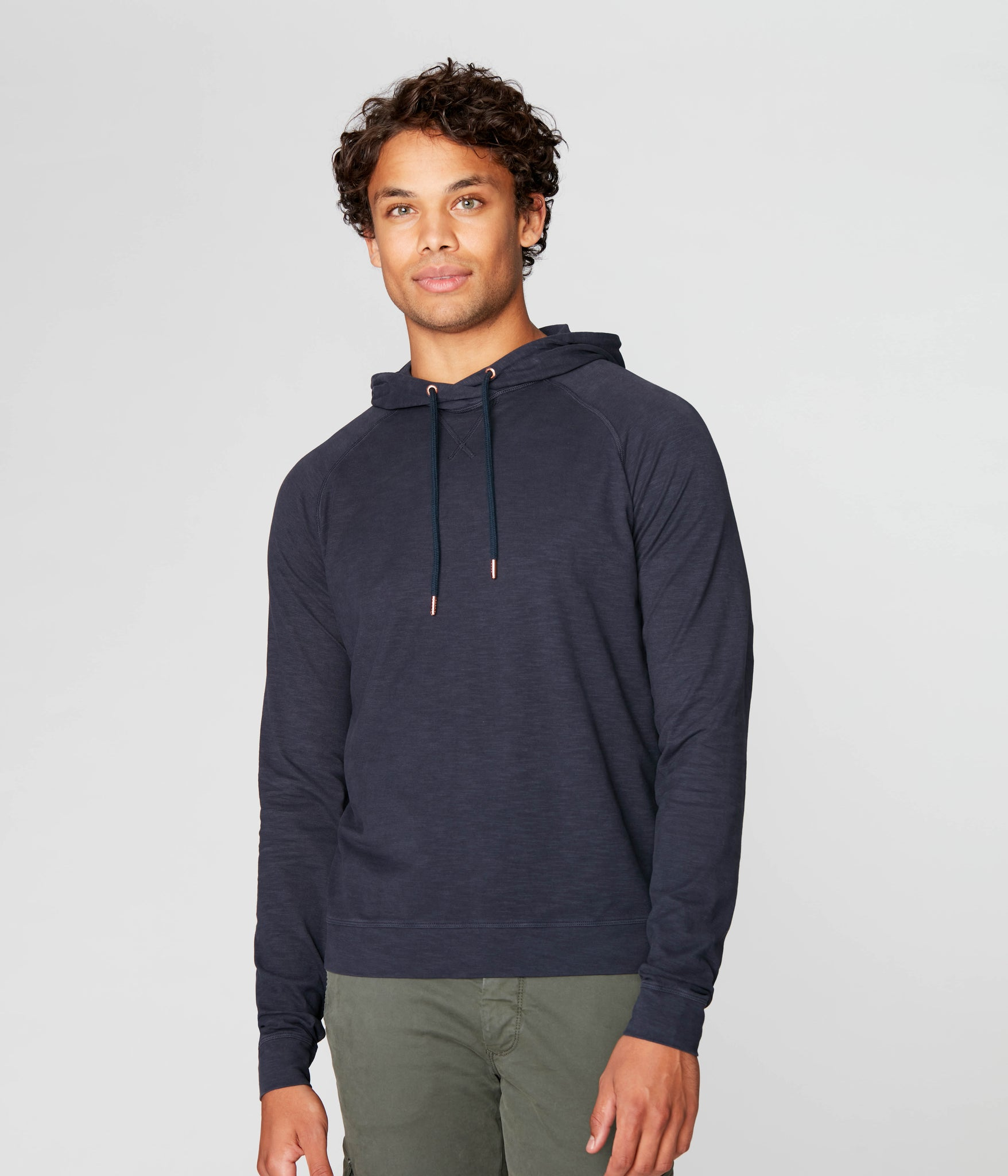 Legend Hoodie in Soft Slub Jersey - Sky Captain