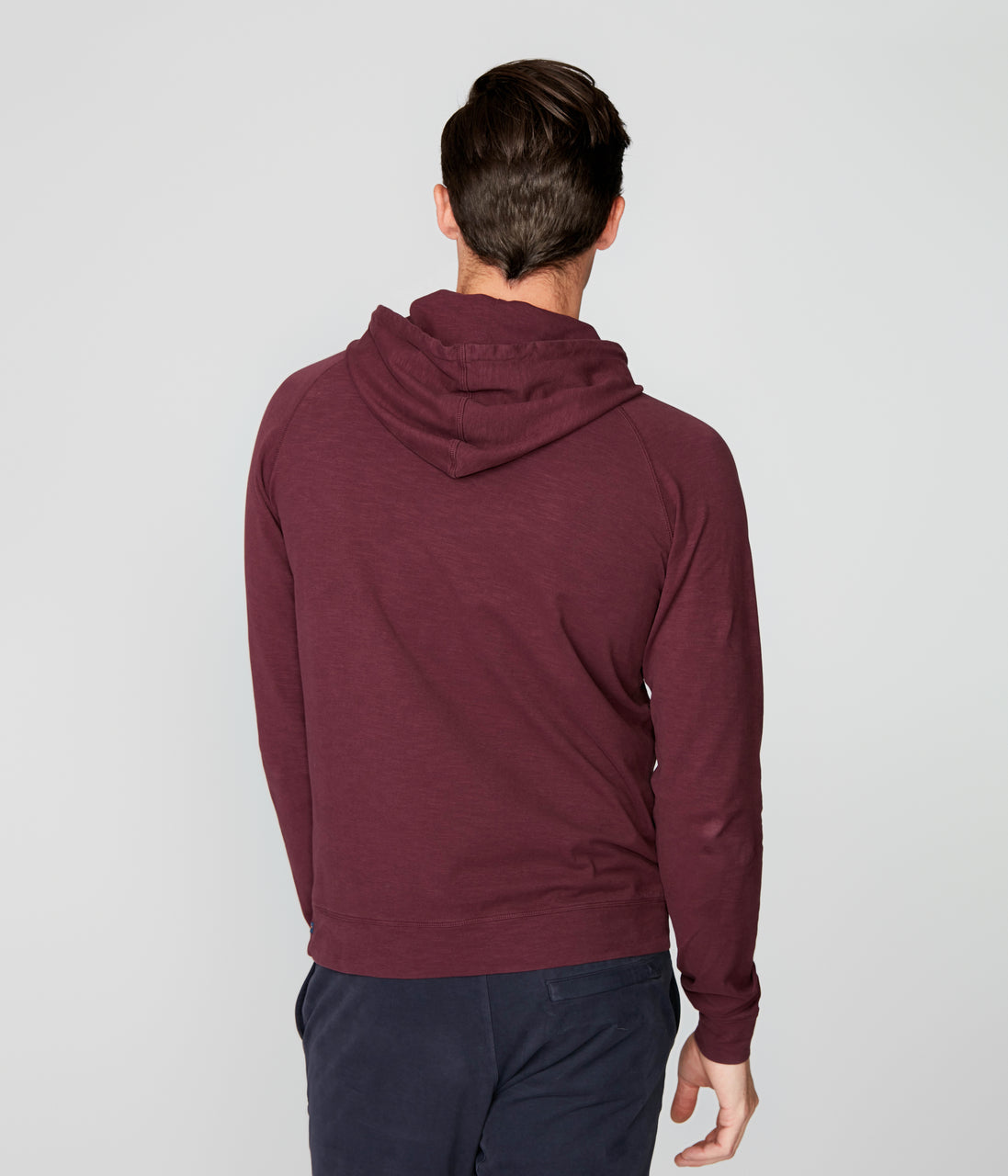 Soft Slub Jersey Legend Hoodie - Wine - Good Man Brand - Soft Slub Jersey Legend Hoodie - Wine