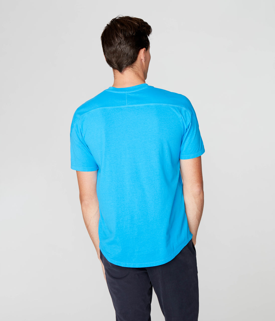 Victory V-Notch in Premium Cotton Jersey  - French Blue - Good Man Brand - Victory V-Notch in Premium Cotton Jersey  - French Blue