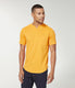 Premium Cotton Jersey Notch Neck Crew - Neon Orange