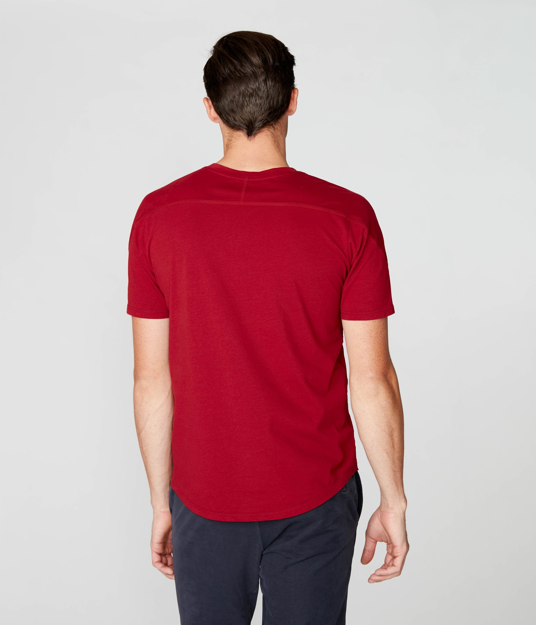 Victory V-Notch in Premium Cotton Jersey  - Red