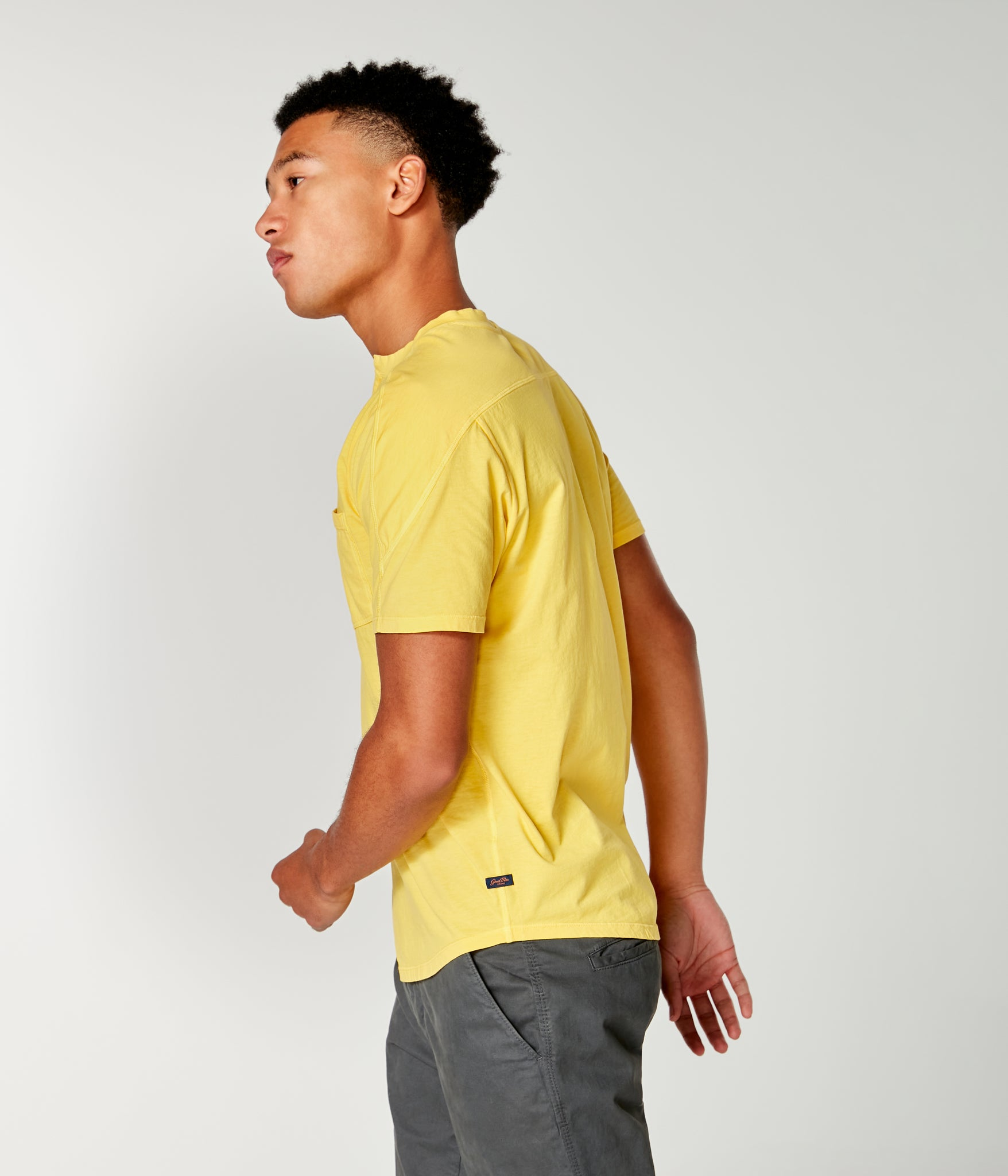 Premium Cotton Jersey Notch Neck Crew - Sun