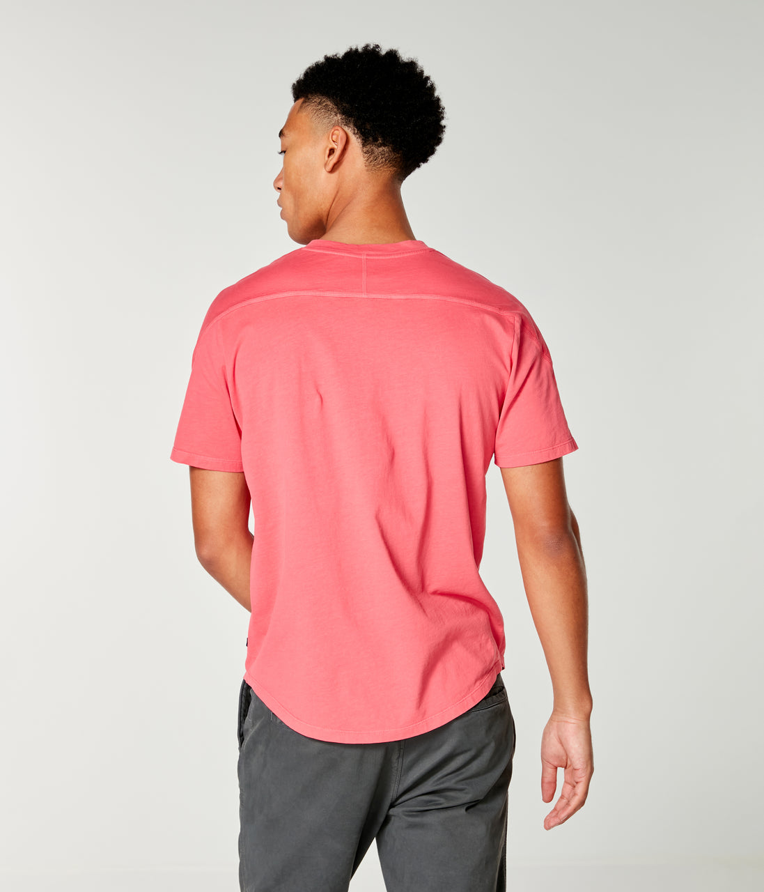 Premium Cotton Jersey Notch Neck Crew - Watermelon - Good Man Brand - Premium Cotton Jersey Notch Neck Crew - Watermelon