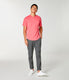 Premium Cotton Jersey Notch Neck Crew - Watermelon