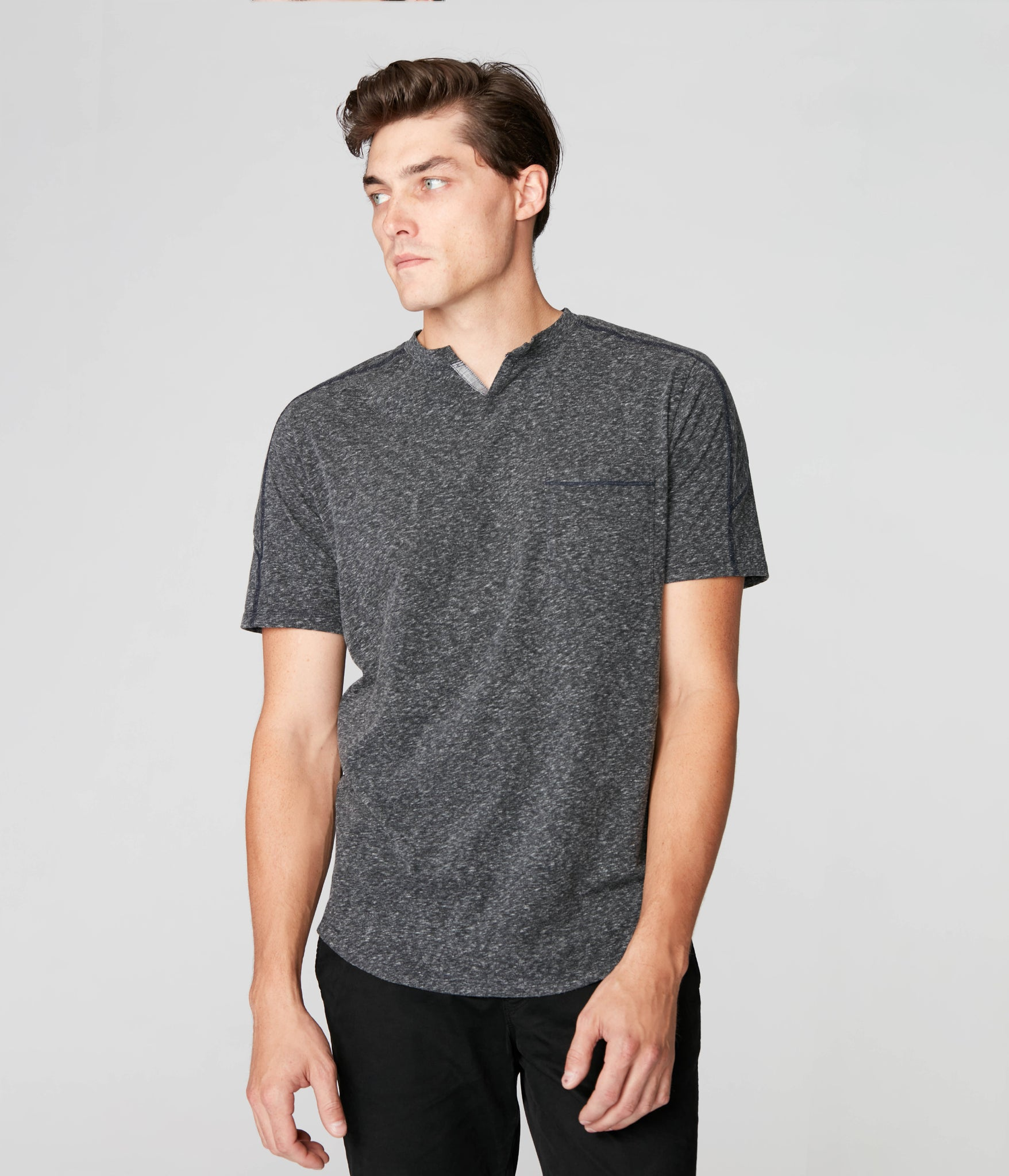 Victory V-Notch Tee - Charcoal Heather