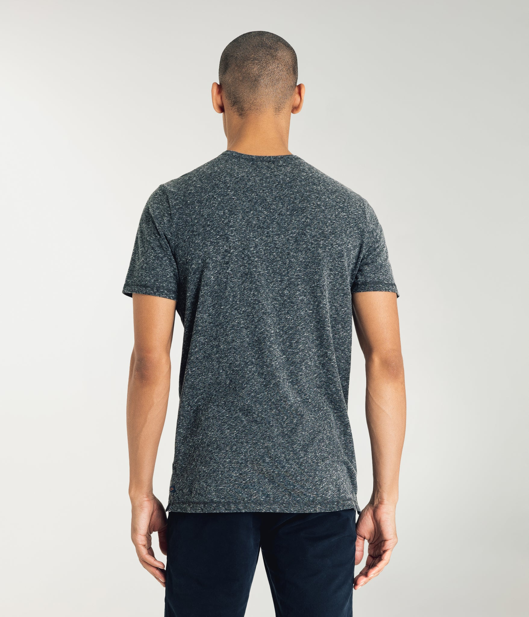 Heather Soft Jersey Henley - Charcoal Heather