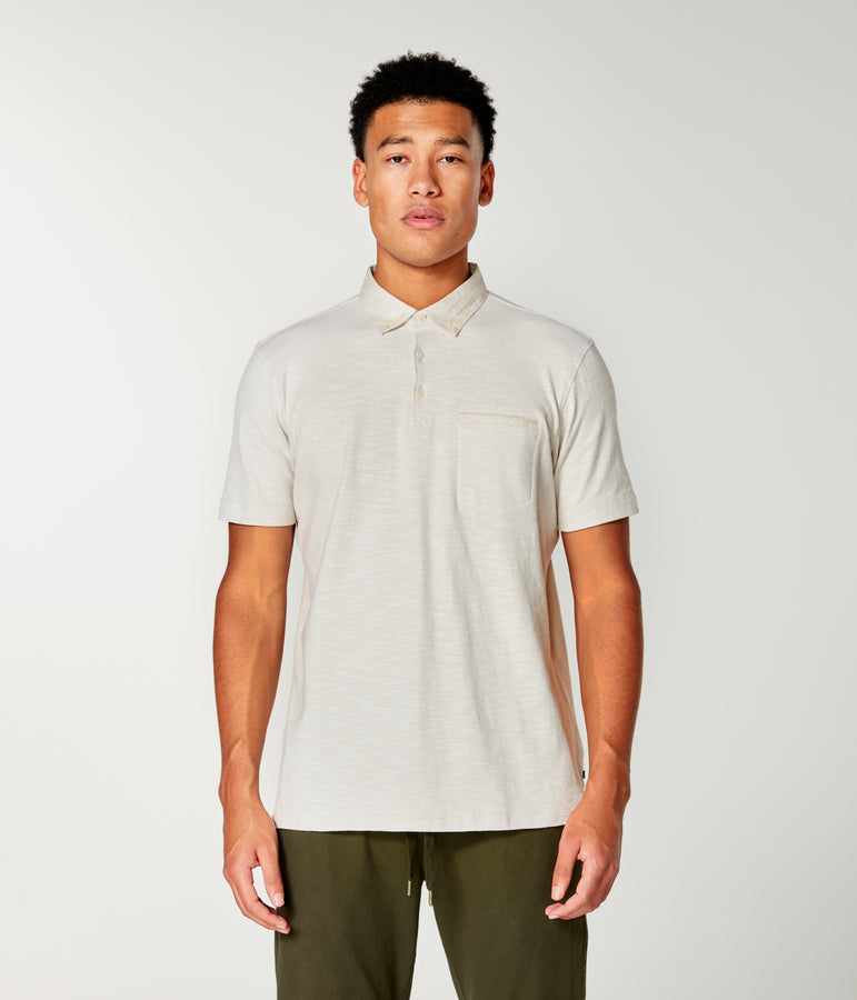 Soft Slub Jersey Polo - Oatmeal - Good Man Brand