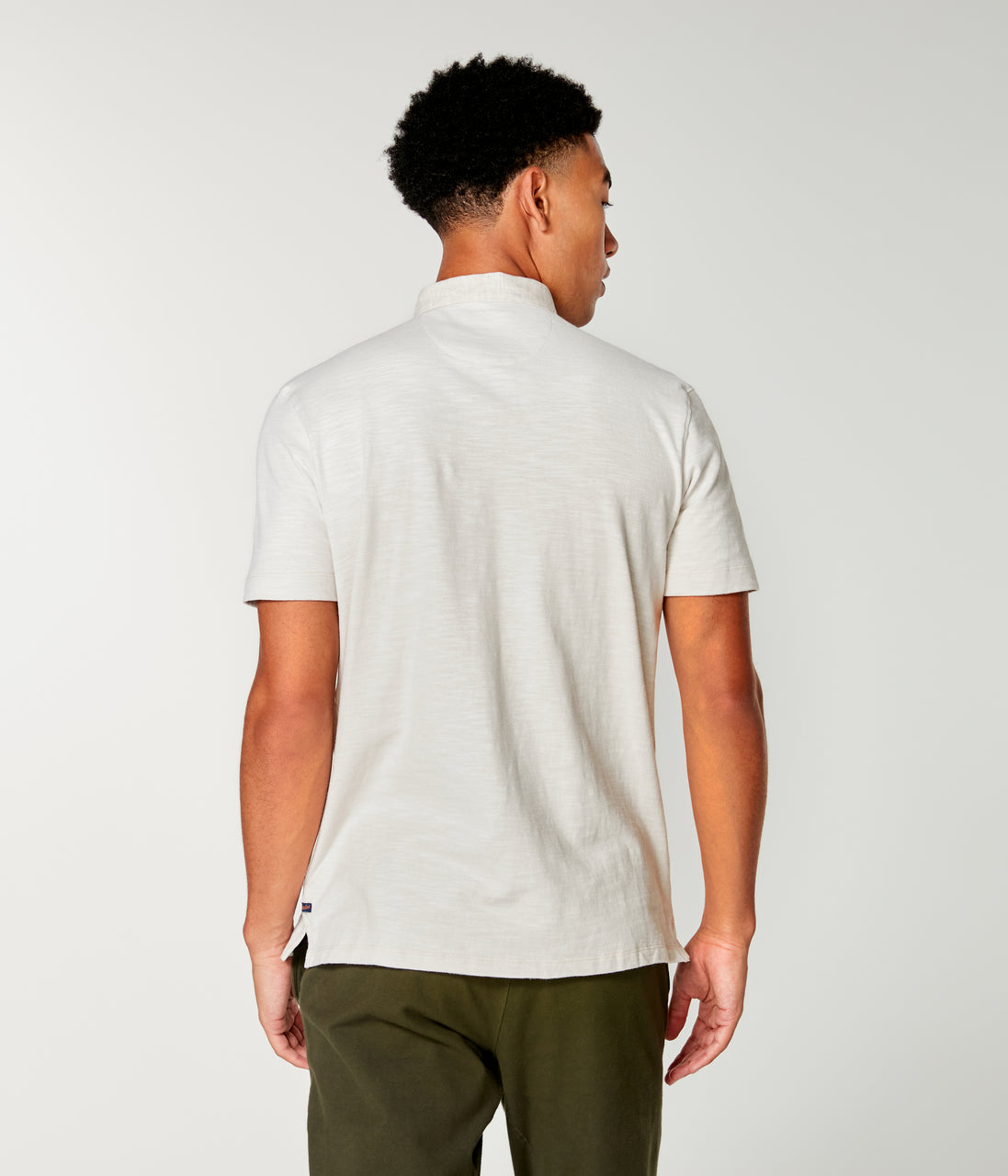 Soft Slub Jersey Polo - Oatmeal - Good Man Brand - Soft Slub Jersey Polo - Oatmeal