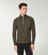Soft Slub Jersey Athletic 1/4 Zip - Rifle Green