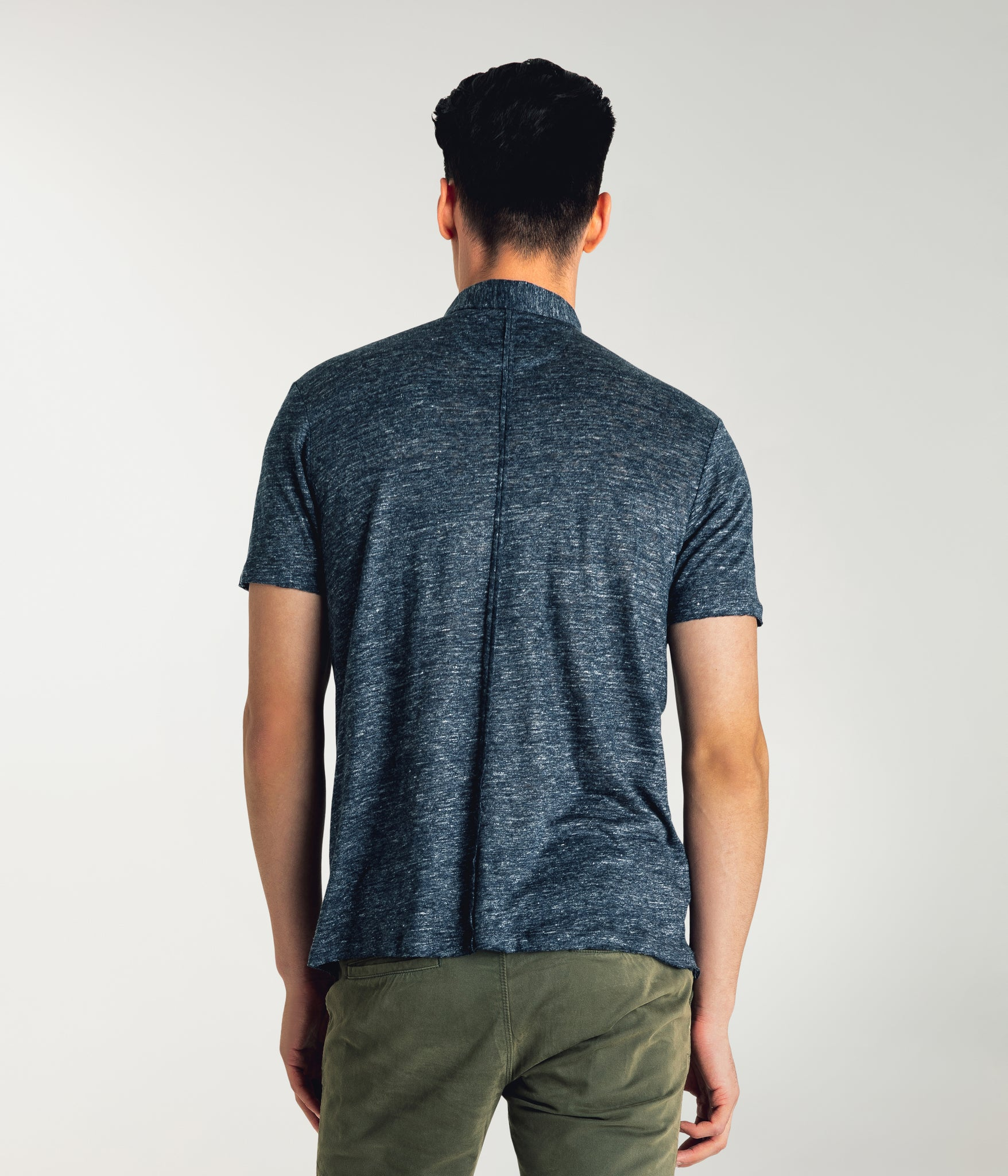 Linen Heather Polo - Navy Heather